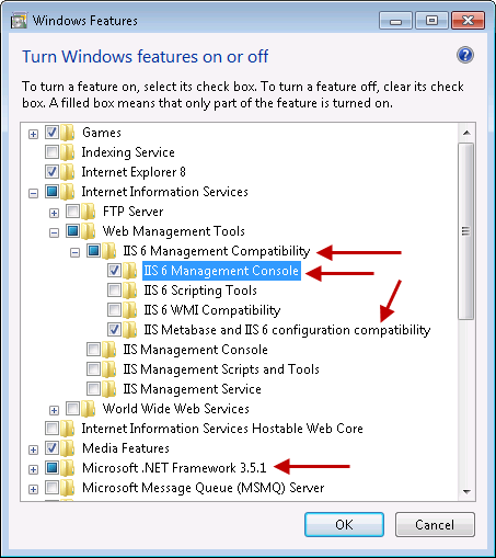 Enable Windows 7 Features Required For Exchange Server 2010 Management Tools