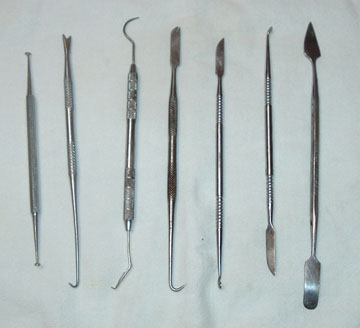 I've collected quite an assortment of dental tools for household repairs and projects. My favorite is the one on the right.