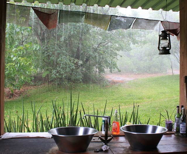 The rain last November, seen from inside my kitchen.