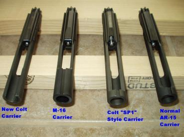 ar15 m16 sp1 bolt carrier comparision