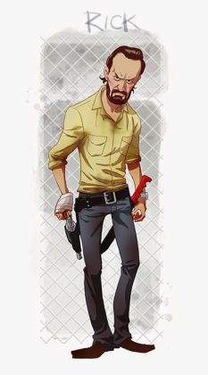rick walking dead art