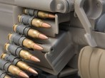 M60 Machinegun Ammunition Feed Closeup