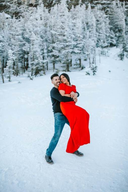 Vermont winter engagement photography