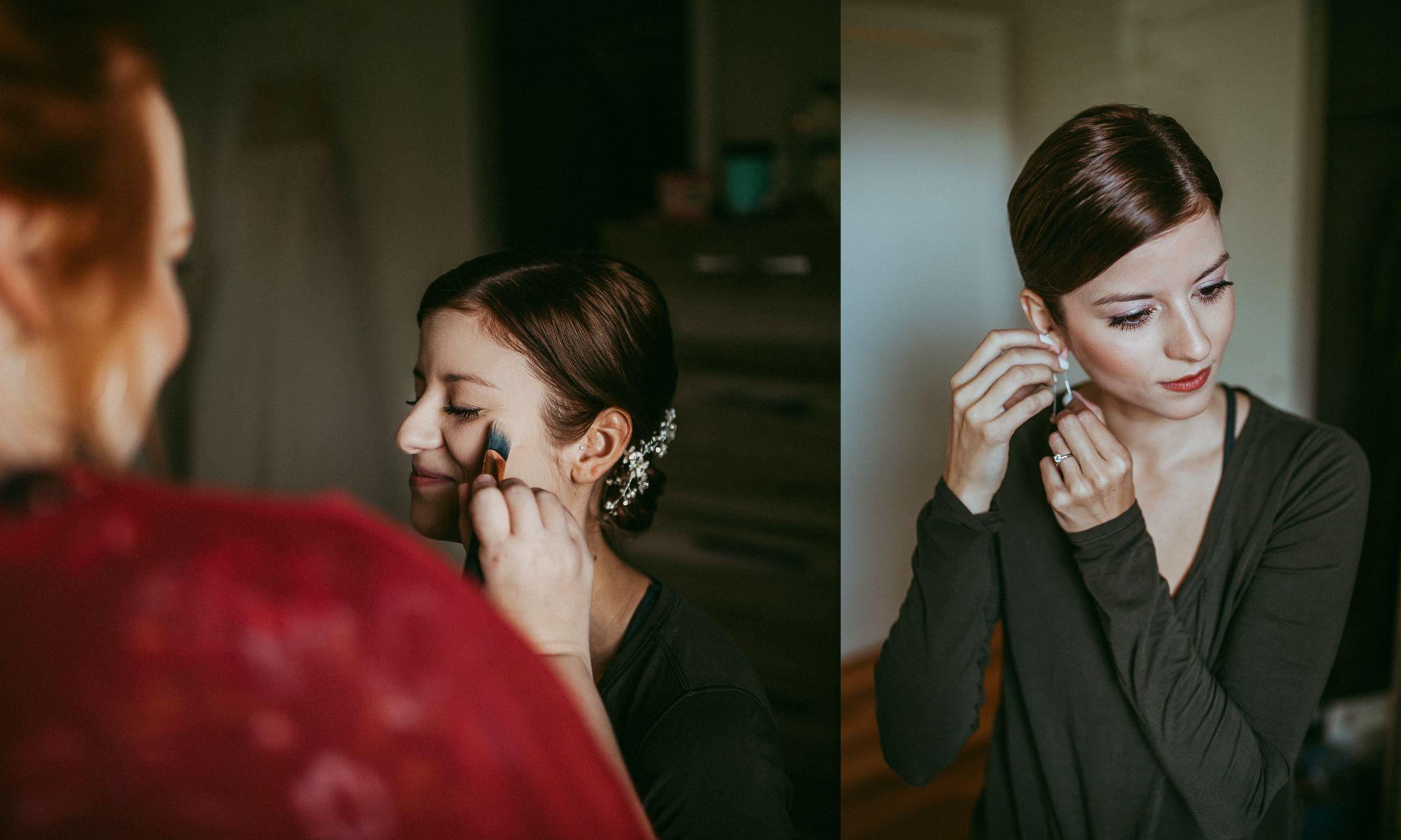 Mt Mansfield Wedding Bride Getting Ready