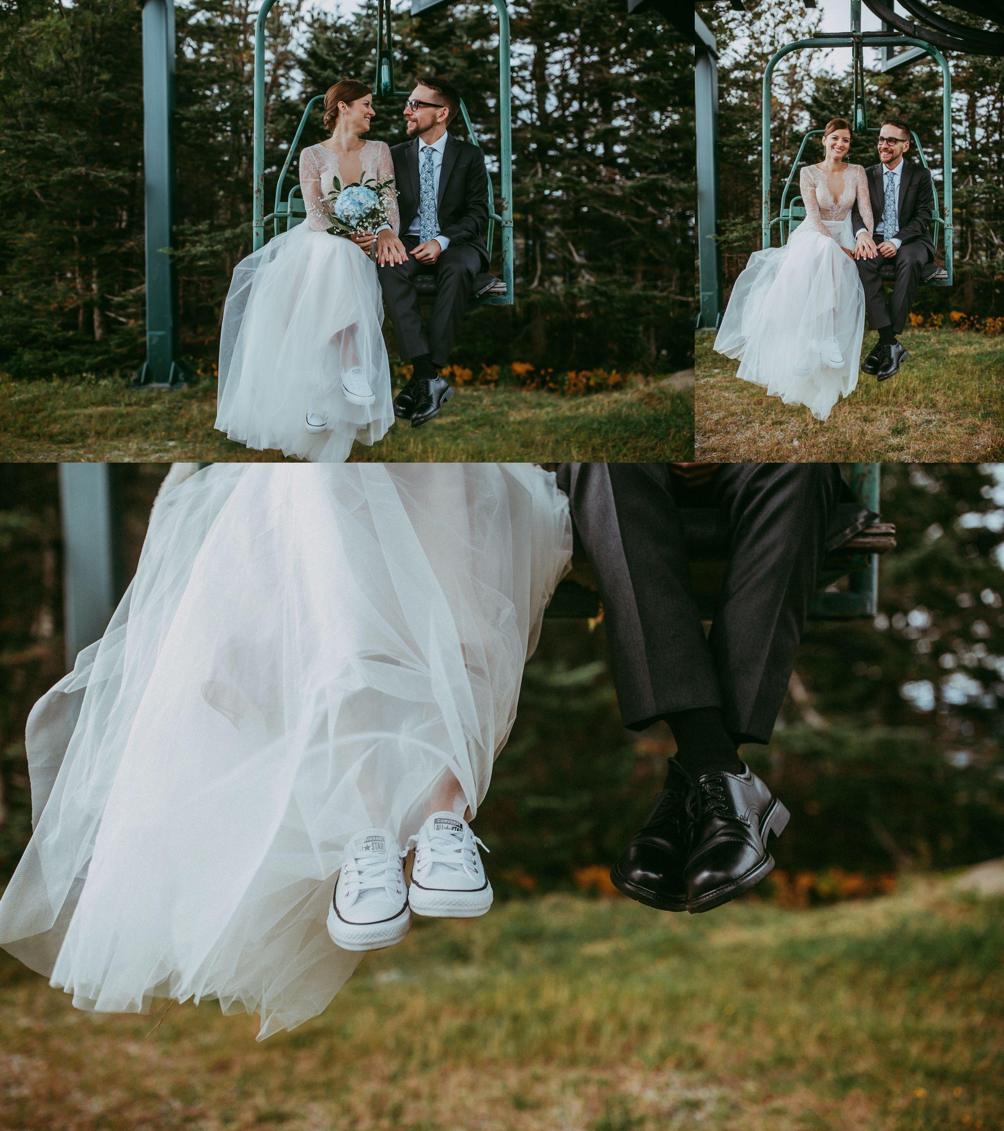 Mt Mansfield Wedding Portraits