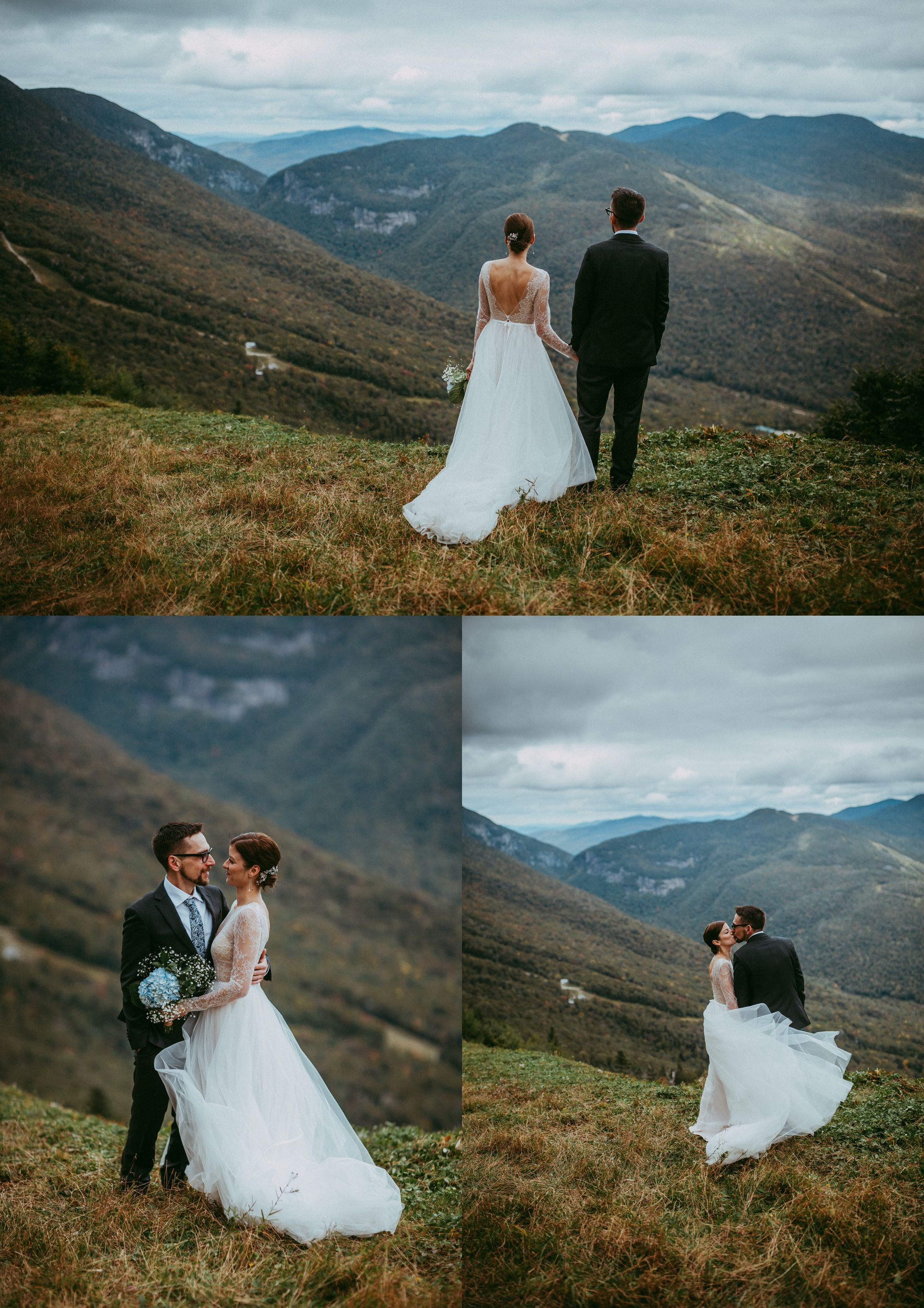 Mt Mansfield Wedding Bride and Groom Viewpoint