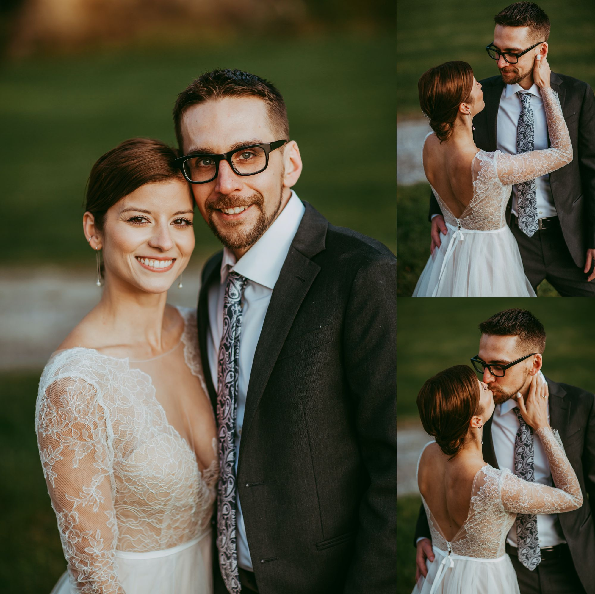 Mt Mansfield Wedding Bride and Groom Happy Closeup