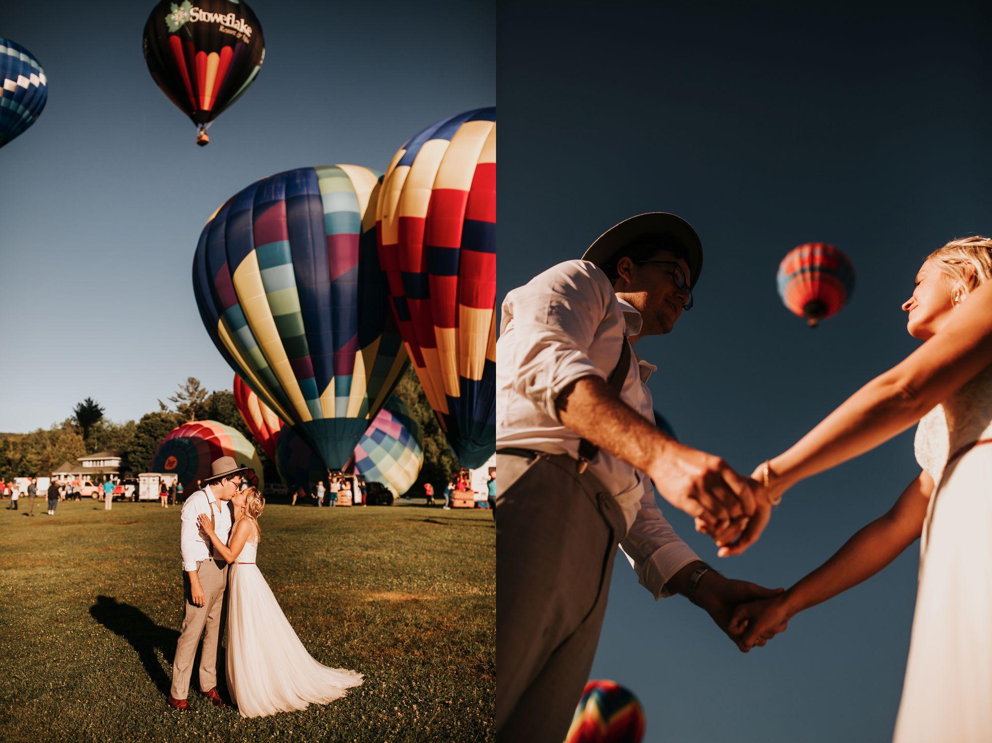 Stoweflake Bride and Groom Balloons