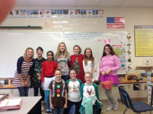 5th & 6th-grade girls looking festive!