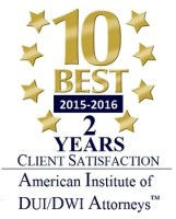 Jason Cerbone 10 Best DUI/DWI Attorneys for Client Satisfaction 2 years in a row - American Institute of DUI/DWI Attorneys