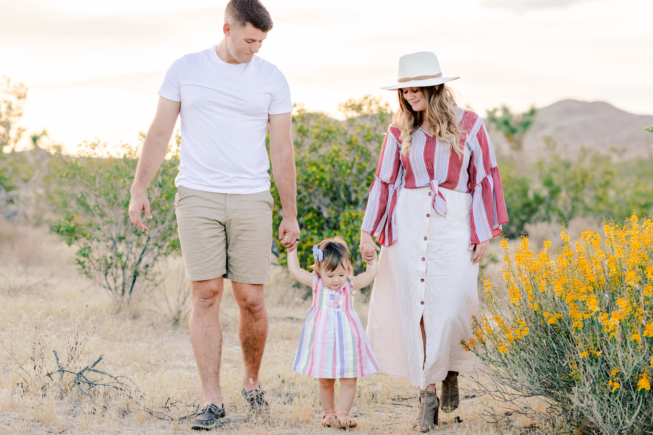 Savannah Michelle Photography Light and Airy Joshua Tree Marine Family Session