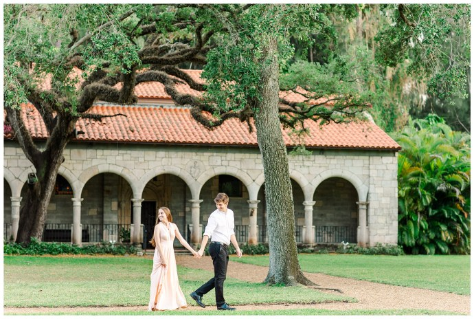Ancient Spanish Monestary Engagement Photos by Savannah Michelle Photography