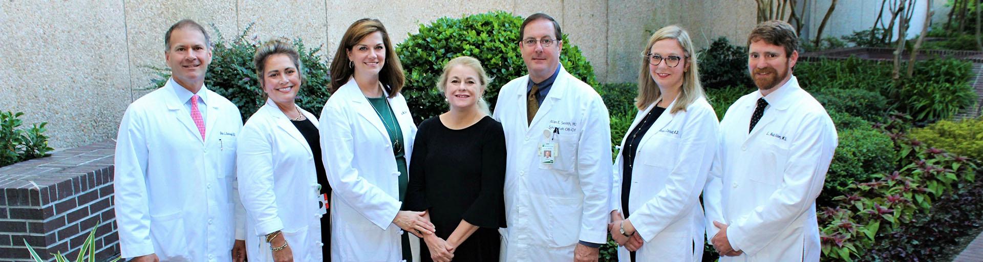 Group photo of the doctors at Savannah OBGYN