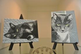 Both portraits at home
