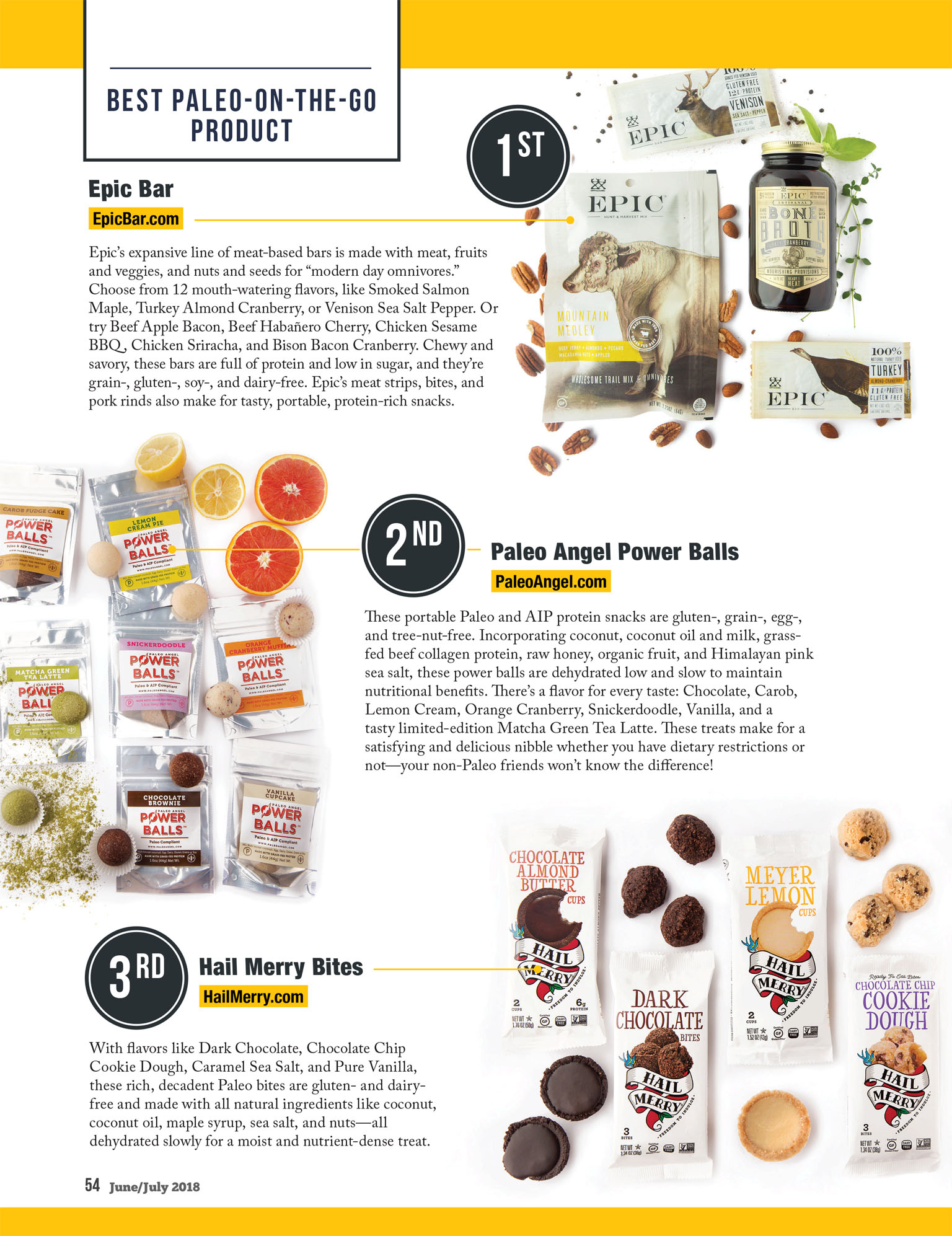 Paleo On the Go | Epic Bar, Paleo Angel Power Balls, Hail Merry | Paleo Magazine