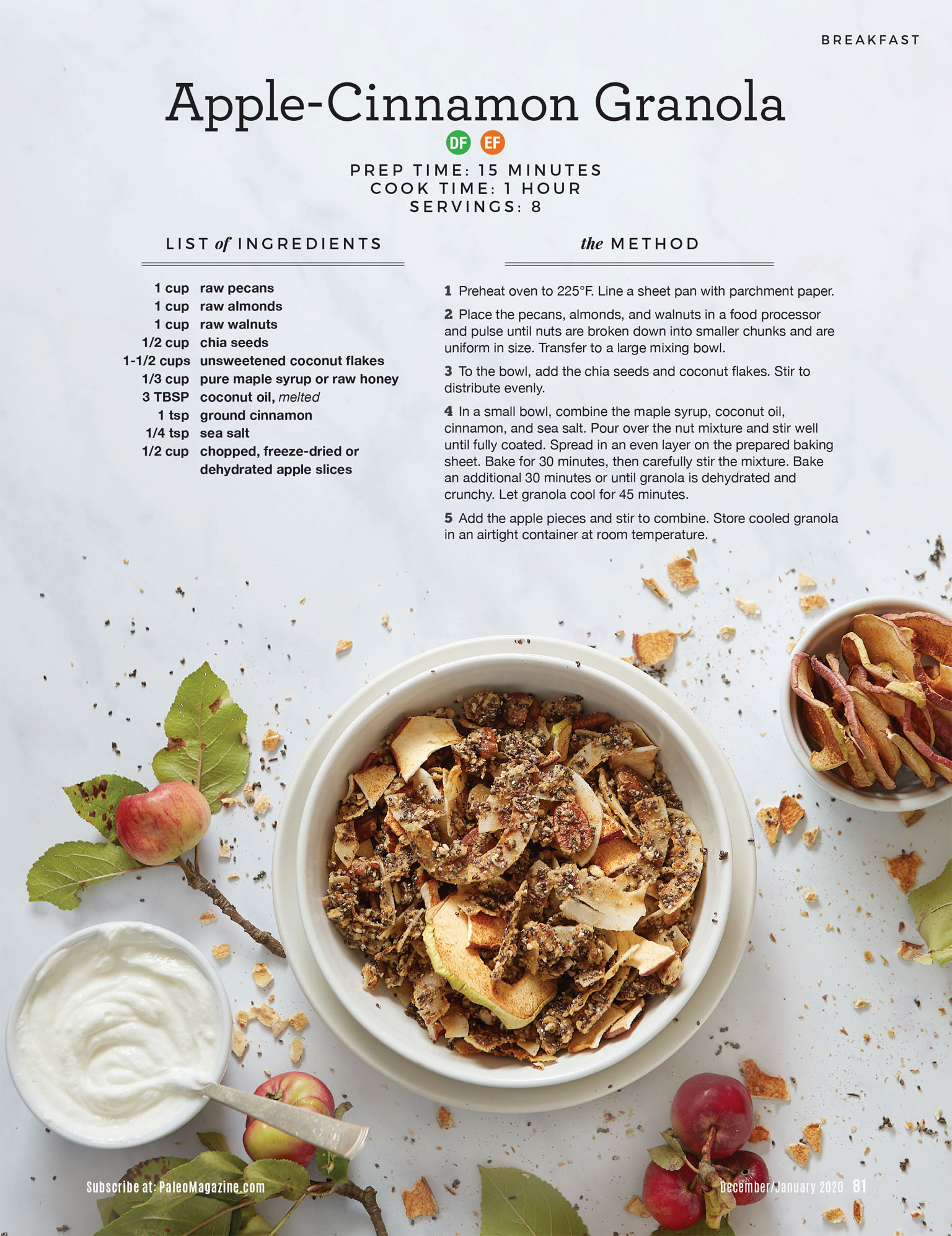 Paleo Magazine Recipe - Apple Cinnamon Granola - Savannah Wishart