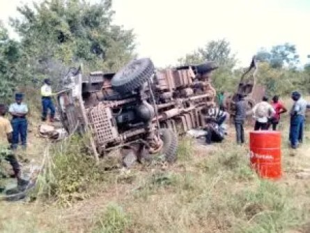 Zimbabwe National Army truck involved in fatal accident