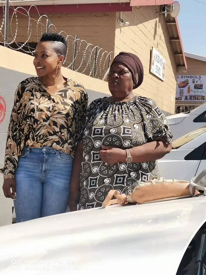 Nomcebo Zikode with her mother picture