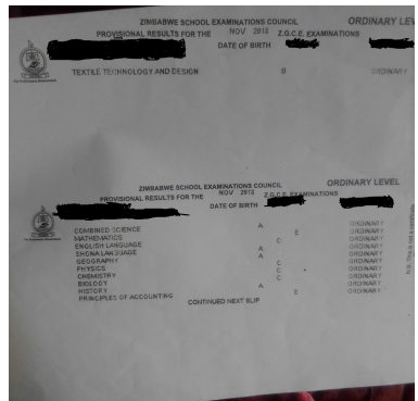 a level results Zimbabwe students prostitution