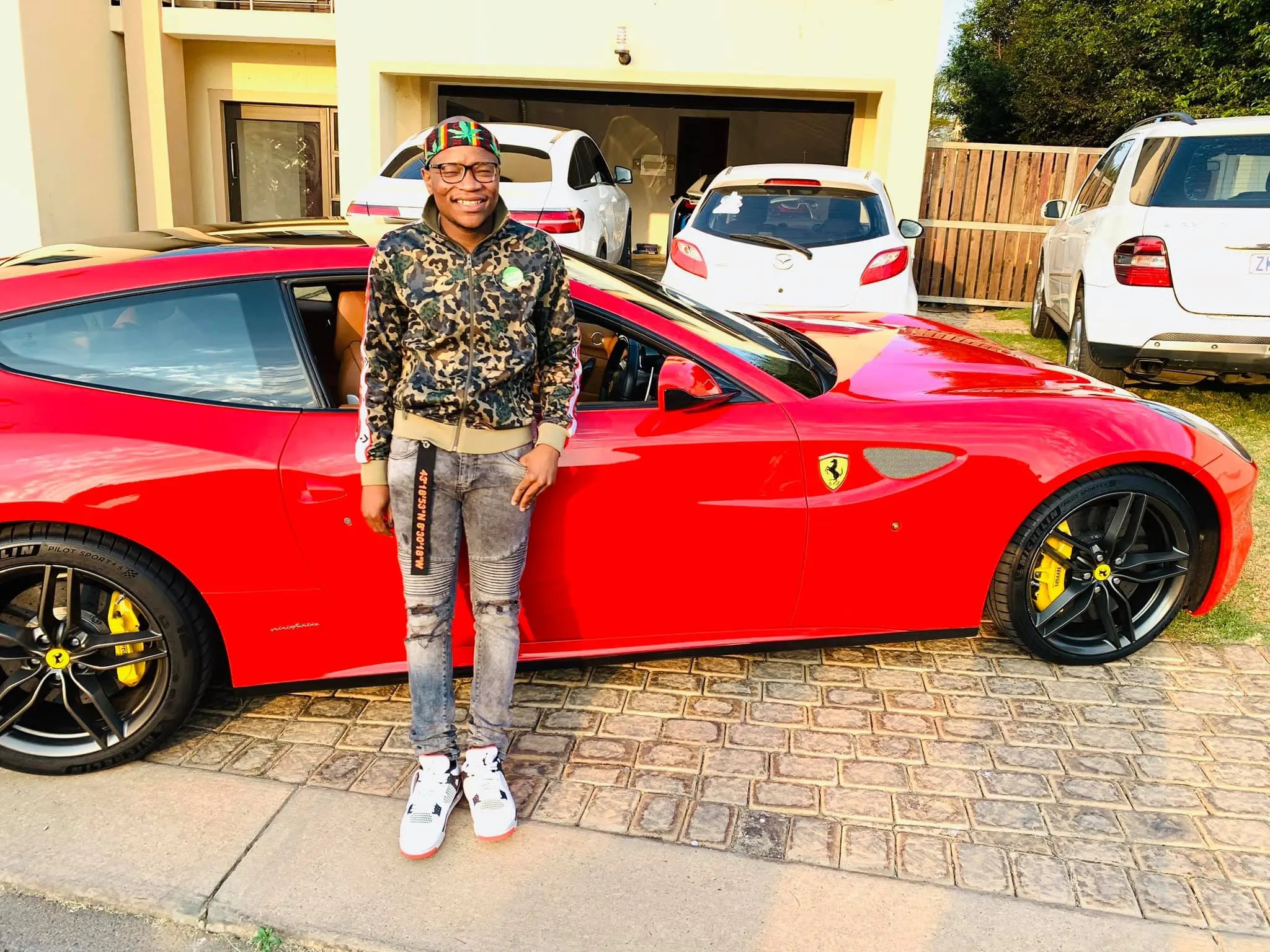 master kg buys new Ferrari car