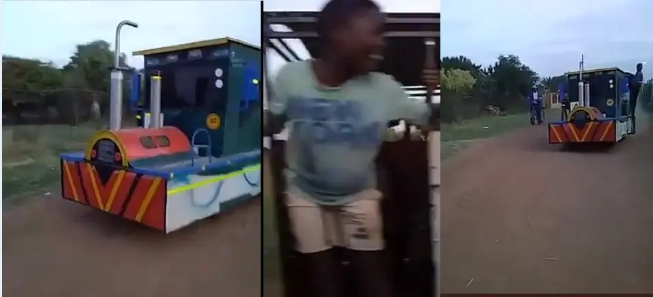 Video: Hammanskraal man builds himself a train and impresses South Africa