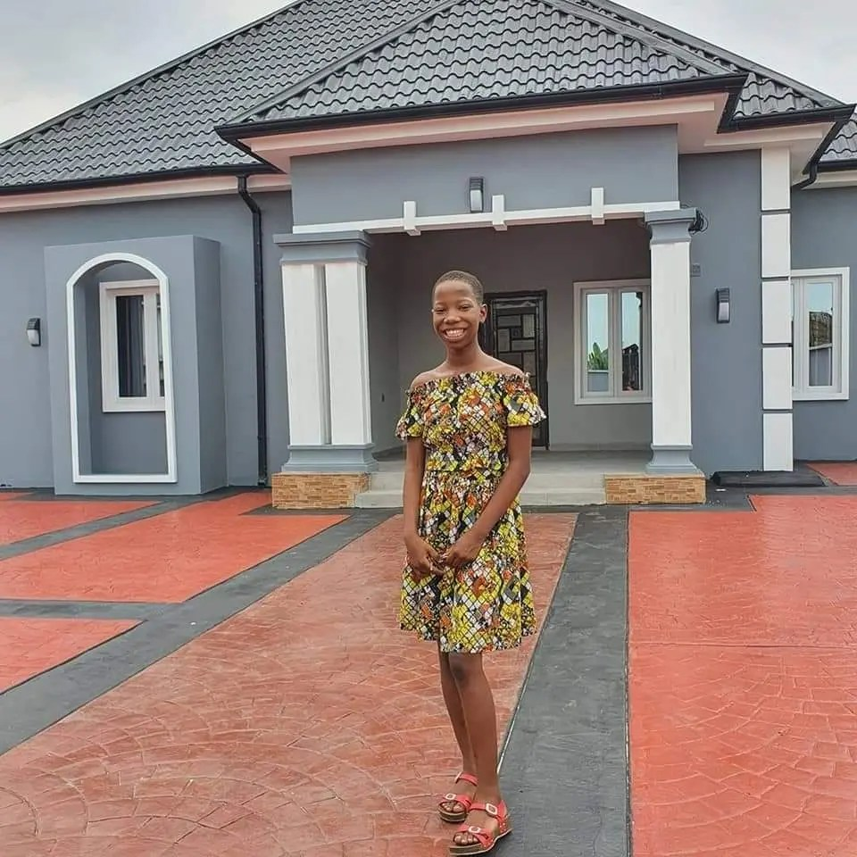 In Pics: Nigerian Comedian Emmanuella surprises her mother with a beautiful house