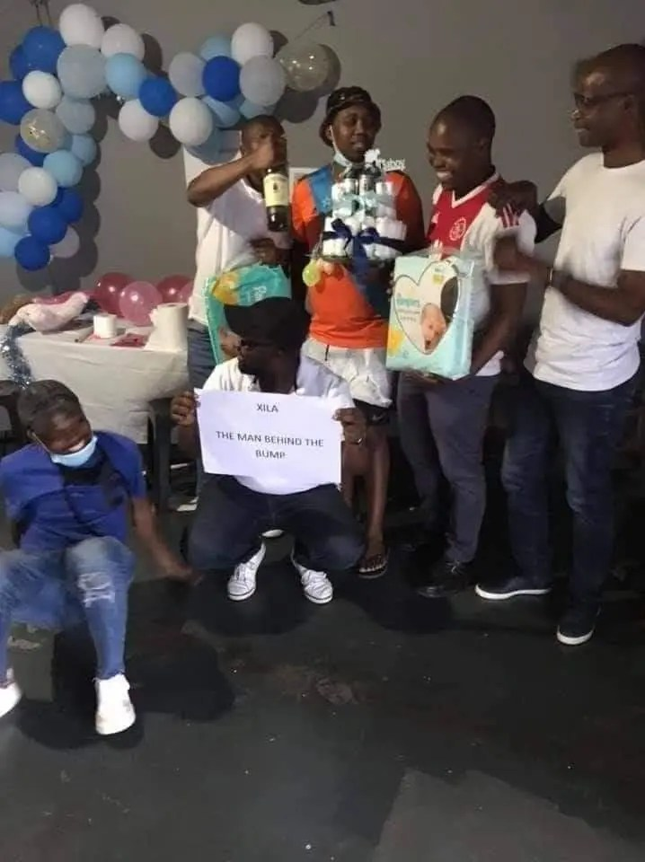 In Pictures, Men Baby Shower Party Gets South Africa Divided