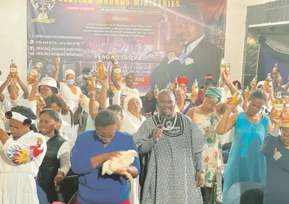 Pictures: Pastor heals congregation with Savanna and Chicken bile