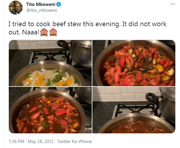 Pictures Mzansi reacts to Finance Minister Tito Mboweni's beef stew