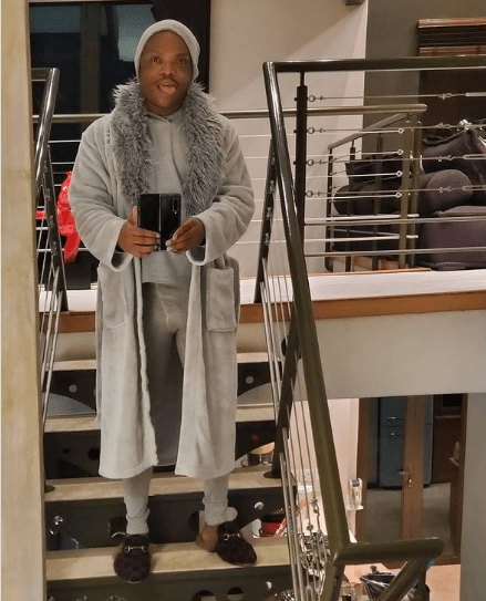 Somizi at it again flaunting his manhood on social media