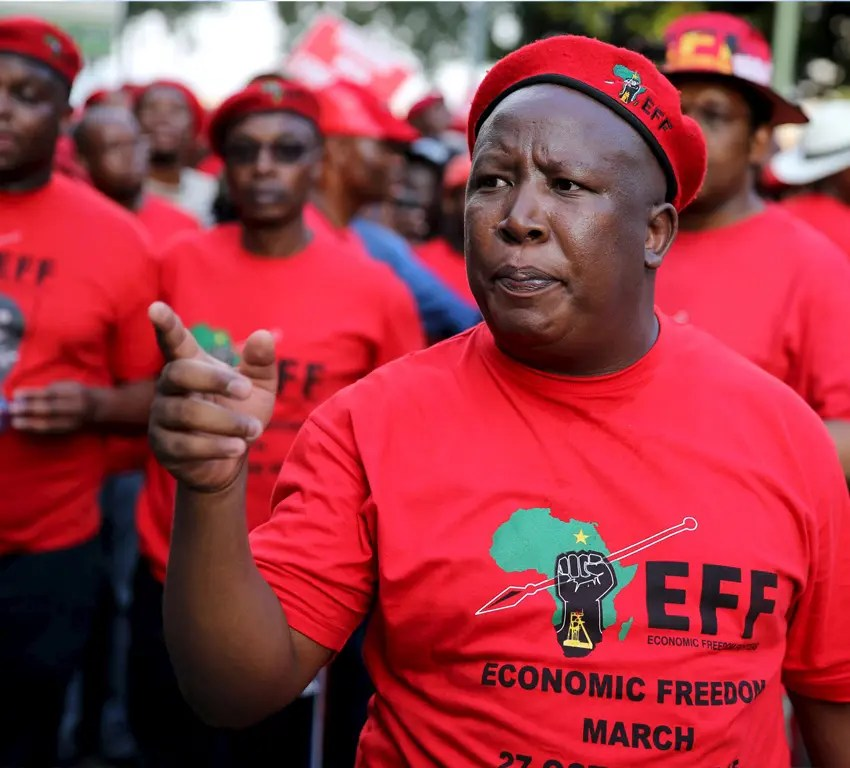 'Zweli Mkhize and the President gave us sparkling water as vaccine' Julius Malema says
