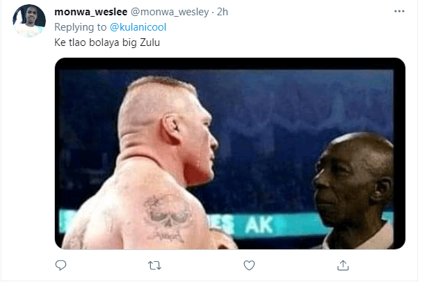Watch: Angry King Monada intimidates Big Zulu in the ring after weigh-in