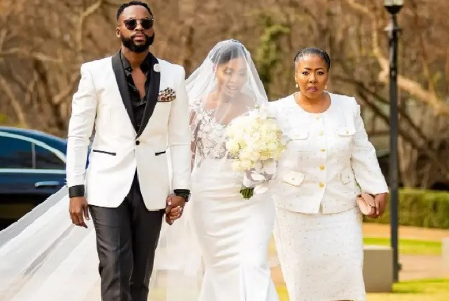 Pictures: Star actor Nay Maps 'Nkosinathi Mphalala' walks down the aisle