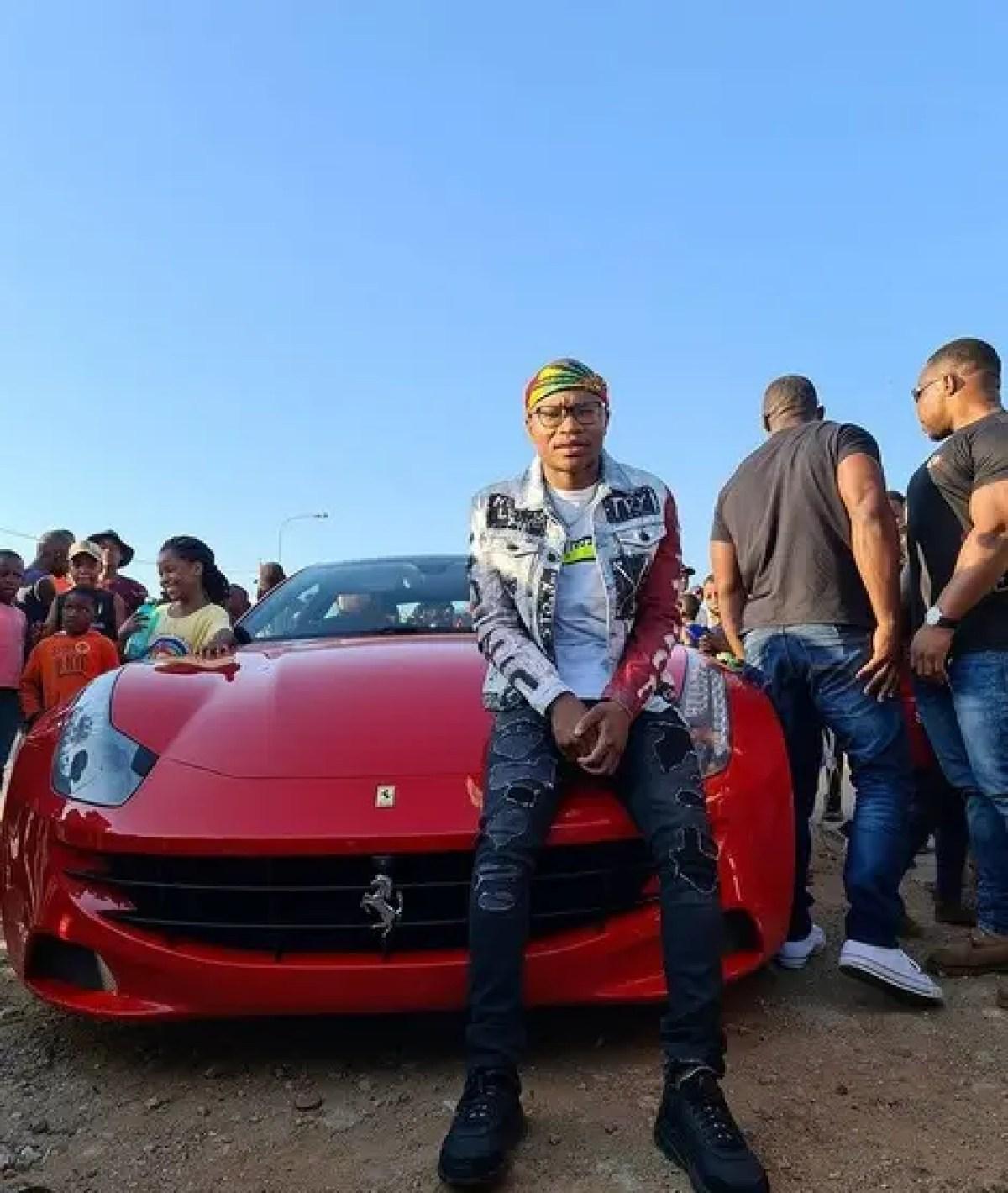 Master KG with his Ferrari FF - Image Source : Instagram @Master KG Music