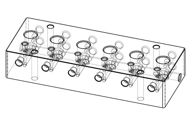 Hydraulic Manifold Cad