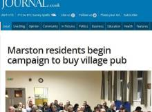 Save the Thorold Arms Meeting reported in the Grantham Journal