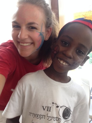 Face painting with Jameson from Tanzania