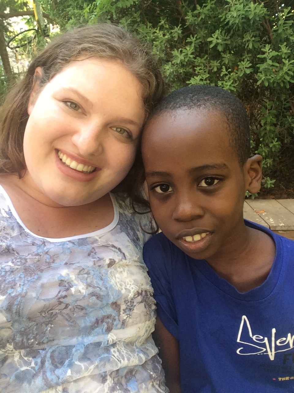 Hanging out with Jameson from Tanzania