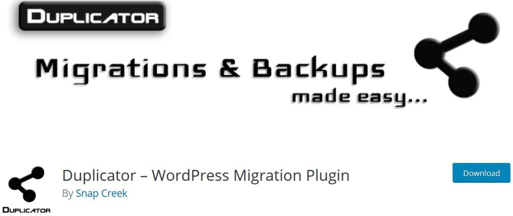 Duplicator Migrations and Backups made easy