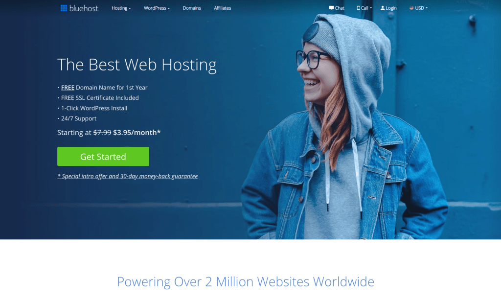 Welcome to Bluehost - get started