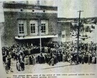 Opening of the Ballarat Civic Hall 1956