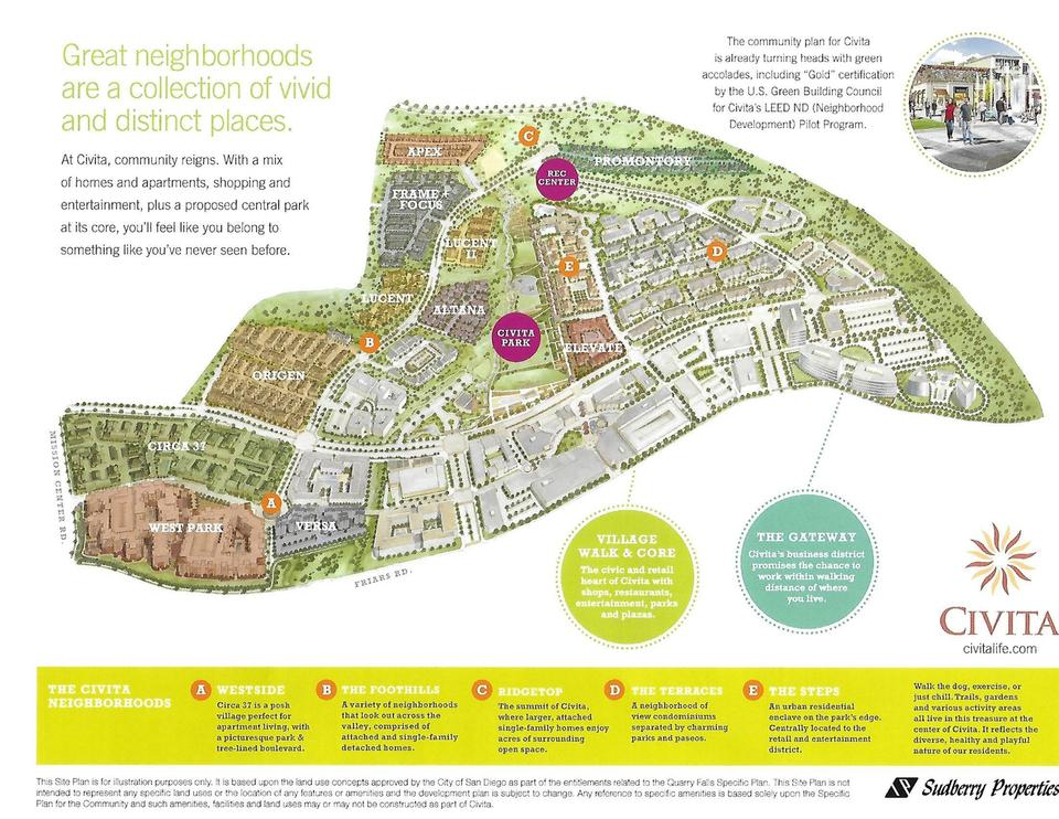 Civita Marketing Map shown to Home Buyers When Civita was to be completed
