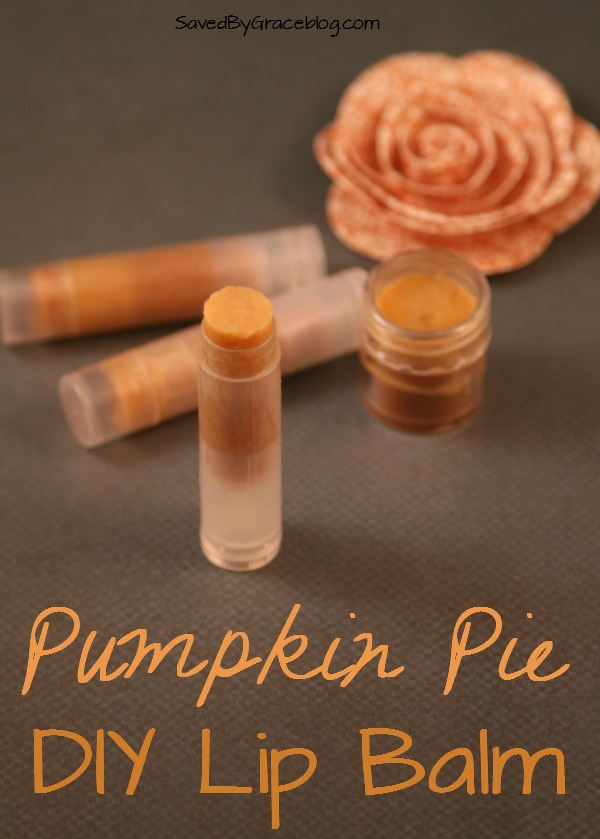 Pumpkin Pie Lip Balm- This easy DIY Pumpkin Pie Lip Balm makes enough to share with friends and it smells absolutely delicious!