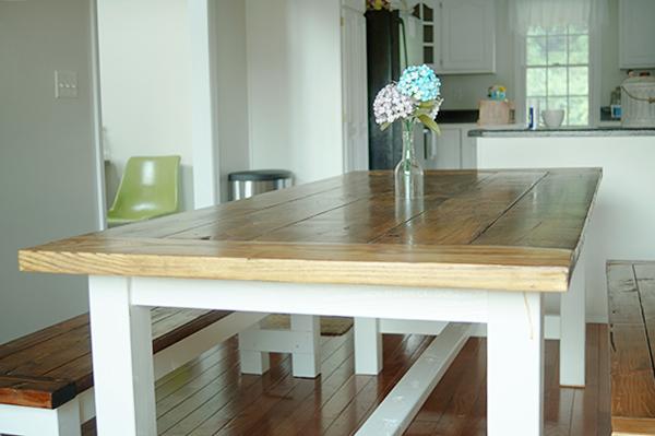 Farmhouse table plans ana white for White farmhouse plans