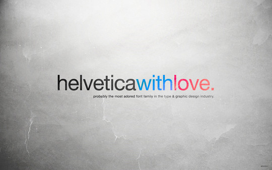 Wallpaper: allonlim - Helvetica with Love