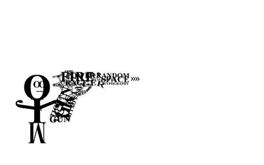 Wallpaper: darkXmatt - Typography Wallpaper - Gun