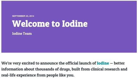 Iodine — better information about thousands of drugs