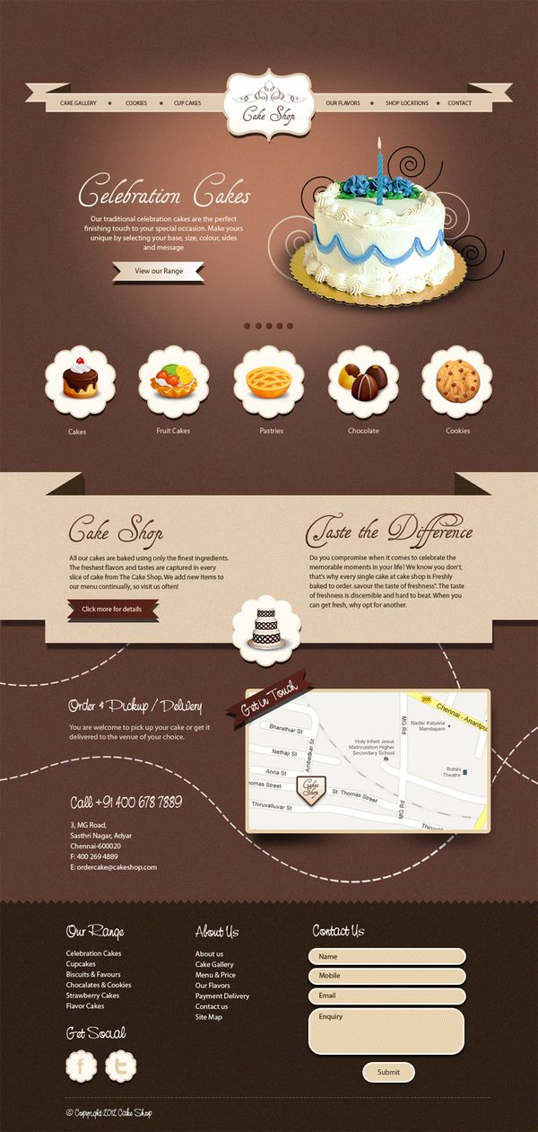 50 Impressive Designs Of Coffee Cake And Bakery Websites