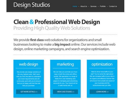 Code a Clean Business Website Design
