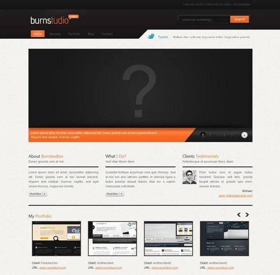 Convert Burnstudio from PSD to HTML